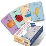 Ilustración aplicada a produto. Baralla de cartas infantil