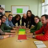 Equipo de Acción Contra el Hambre e participantes en obradoiros no Centro de Emprendemento do Gaiás (Foto: María Belén Gómez Rosbier)