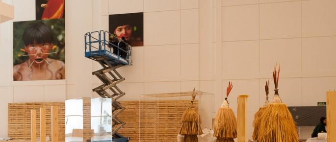 """Montaxe da exposición """"Orinoco. Viaxe a un mundo perdido"""""""