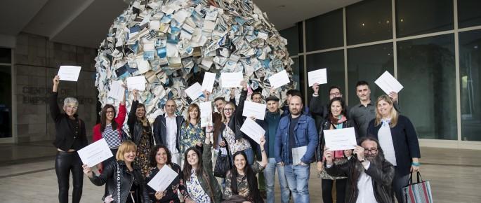 Participantes no I Obradoiro de Novela Cidade da Cultura. Foto: Óscar Corral